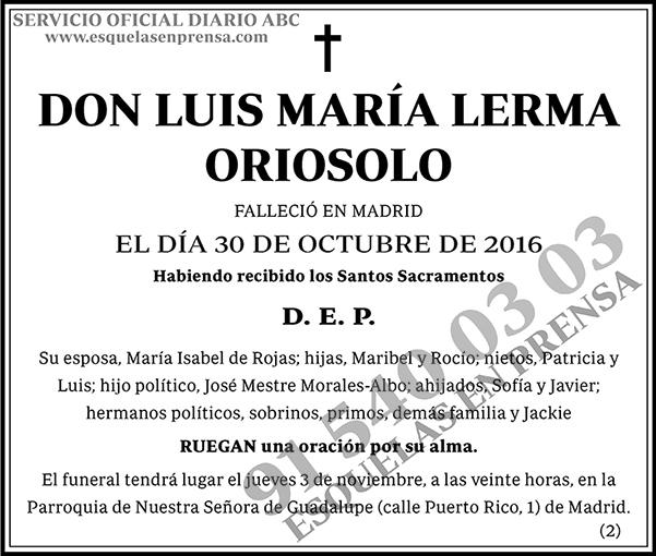 Luis María Lerma Oriosolo